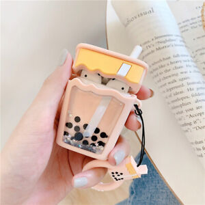 Glitter Quicksand Milk Tea Airpods Protect Case Cover For Apple Airpods Earbud Ebay