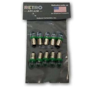 10 New Pinball 6.3 Volt LED RED Flex Replacement Bulbs 44//47 Bayonet Base BA9S