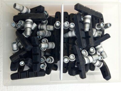 50Stk. Werkstattbox Fahrrad  Bremsschuhe für Felgenbremsen 25 Paar 60mm #12615