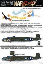 Kits World Decals 1/72 NORTH AMERICAN B-25J MITCHELL Brenda's Boys & Big Bonnie