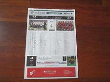 2002 WORLD CUP JAPAN v TURKEY TEAM SHEET