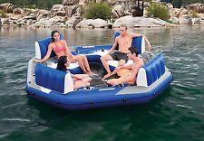 4 Person Inflatable Lake Raft Pool Float Ocean Floating Huge Water Party Lounge