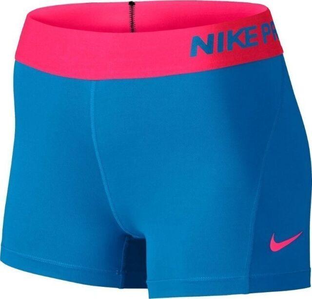 NIKE PRO DRI FIT Hypercool COMPRESSION SHORTS Women's Small S (BluePink) NWT