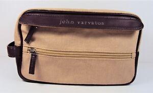 FREE SHIPPING NEW JOHN VARVATOS TOILETRY BAG  SHAVING DOPP KIT TRAVEL CASE
