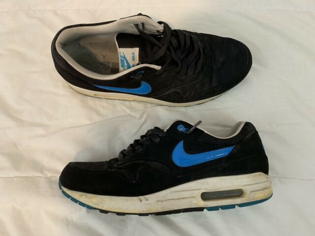 6a590b972c Nike Air Max 1 Men's Shoes Size 11.5 Black Blue Hero Sail White 512033-041