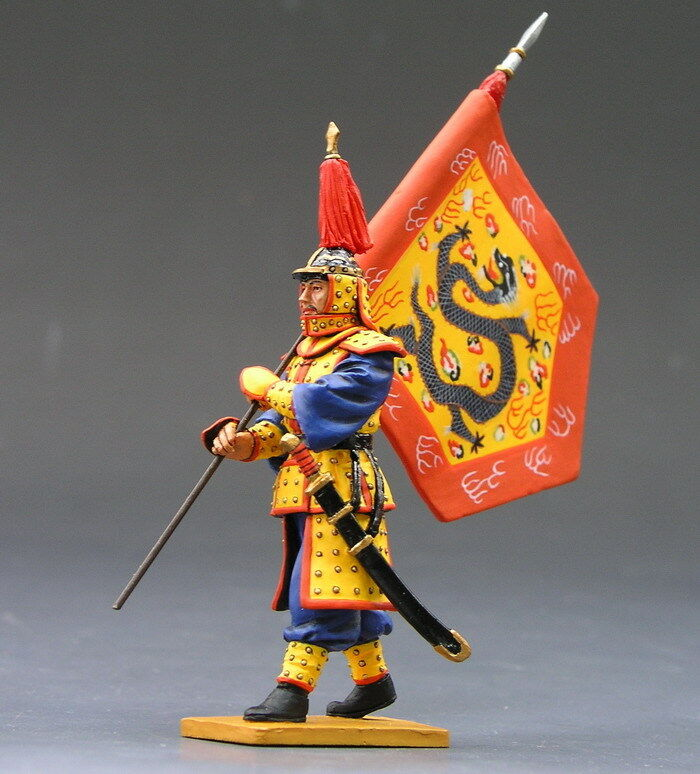 King and Country MARCIA flagbearer dipinto DIECAST METAL IC014 IC14