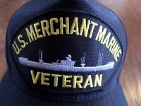 U.s Merchant Marine Veteran U.s Navy Ship Hat Official U.s Military Ball Cap Us