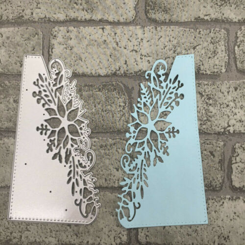 Cutting Dies Flower Corner Xmas Christmas Poinsettia Crafts Frame Metal 3D Stamp