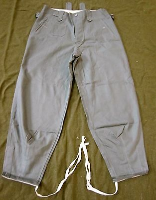 H11b WWII GERMAN HEER WAFFEN M43 REED GREEN HBT COMBAT FIELD TROUSERS-LARGE