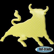 3d carbon amarillo emblema pegatinas logotipo toro estrella caracteres toro TORRO Taurus l002