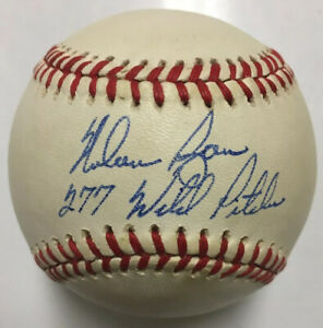 NOLAN-RYAN-Signed-Autographed-OAL-Baseball-w-277-Wild-Pitches-Insc-Hologram