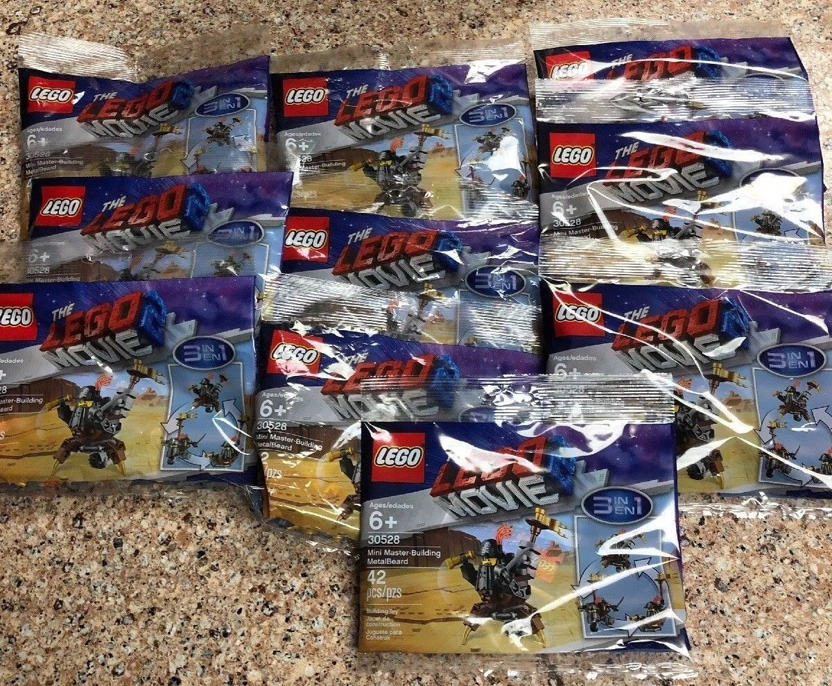 The LEGO Movie 2 30528 Polybag MetalBeard 3 in in in 1 set 42 pcs lot of 20 sealed NEW 674dac
