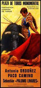 "Plaza De Toros Monumental Barcelona #57 Canvas Art Poster 12/""x 24/"" Bullfighting"