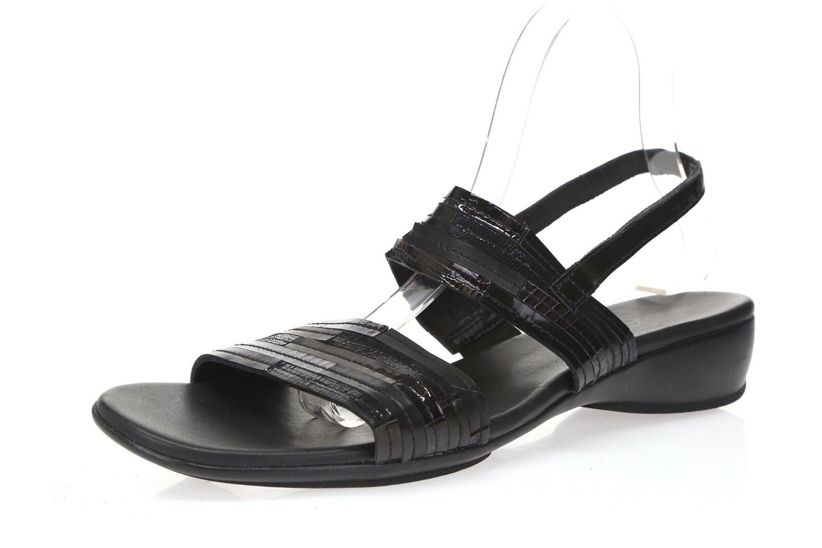 Womens MUNRO AMERICAN black leather slingback sandals sz. 10 SS NEW   190