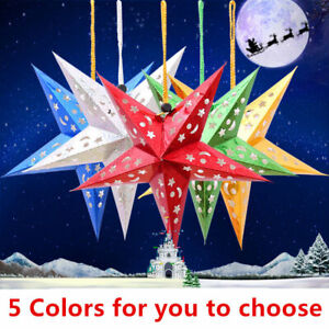 Xmas-String-Hang-Star-Laser-Paper-Christmas-Ornament-Party-Festival-Tree-Decor