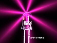 20 Stück Leuchtdioden  /  Led / 5mm rund PINK 5000mcd max. / NEU