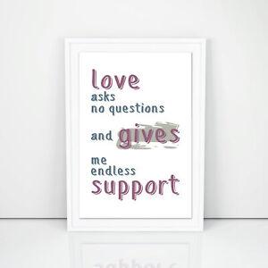 Love Asks No Questions Kitchen Wall Art Digital Art Print Wall Decor Kitchen Ebay