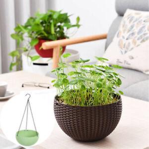 Home-Garden-Ceramic-Hanging-Planter-Flower-Pot-Pots-Green-Plant-Vase-Twine-56CM