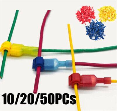10 Pcs Electrical Cable Spade Connectors Quick Splice Lock Wire Terminals Crimp