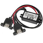 DC DC Converter Module 12V To 5V 3A 15W Duble USB Output Power Adapter FC0