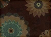 Crypton® Designtex Cassava Cocoa Bean Contemporary Floral Upholstery Fabric