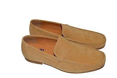 New Italian Beige Loafers Mocasins Casual Smart Designer Shoes UK 6-12