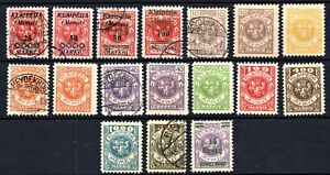 GERMANY 1923 - MEMEL ISSUES - SOME OPTED BY LITHUANIA - USED + MINT *HINGED*
