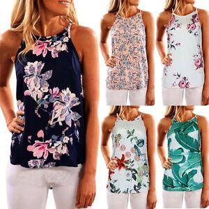 Womens-Boho-Sleeveless-Vest-Tank-Top-Summer-Beach-Casual-Blouse-Loose-T-Shirt-US
