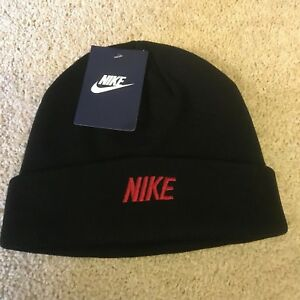 uk availability 3757d 76f3f Image is loading Nike-Golf-Ski-woolly-winter-beanie-hat