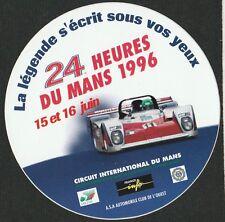 1996 LE MANS 24 HOURS ORIGINAL PERIOD RACE STICKER AUTOCOLLANT WR LM94 TWR WSC95