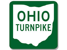 4x4 inch Shaped OHIO TURNPIKE Logo Sticker -road highway travel rv sign columbus
