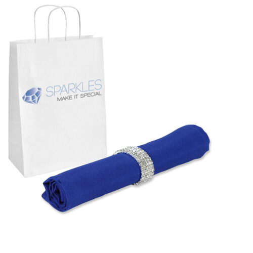"""17/""""x17/"""" or 20/""""x20/"""" Polyester Cloth Linen Dinner Napkins with or w//o Napkin Rings"""