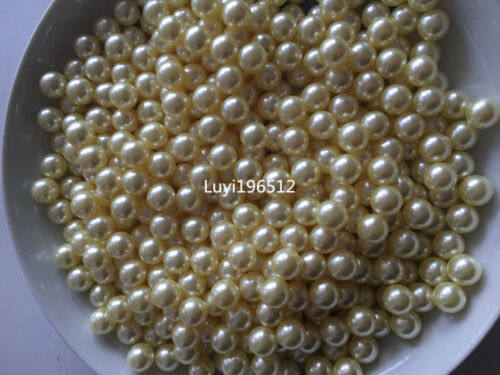 Wholesale ABS No Hole Pearl Round Spacer Loose Beads1.5mm-14mm 22 Color