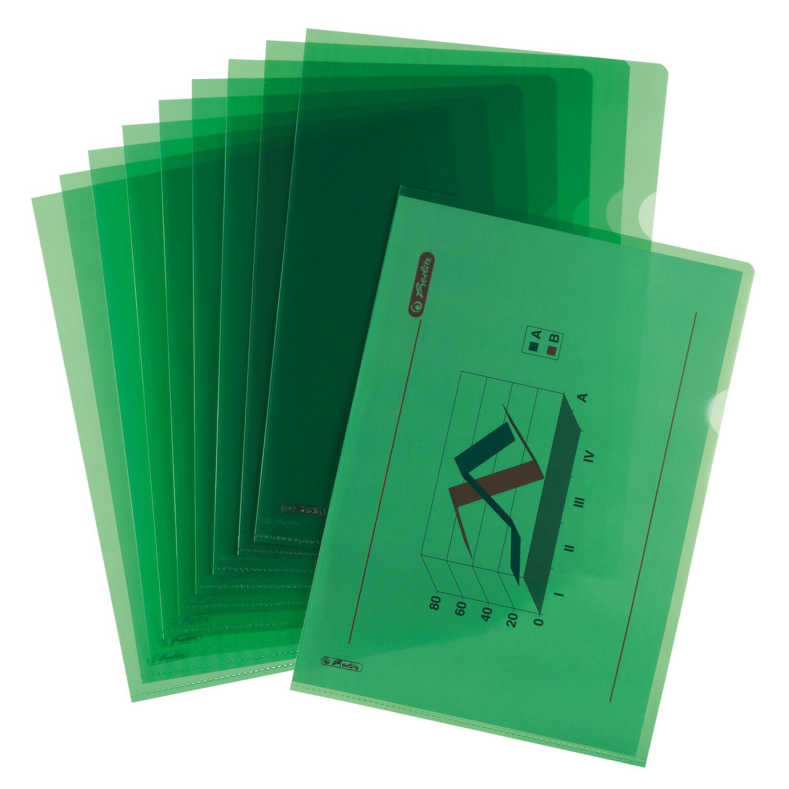 10 Aktenhüllen A4 Sichthüllen PP Dokumentenhüllen oben+rechts offen 190my