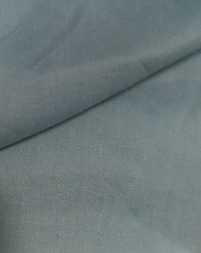 SOLD BY THE METRE BLUE GREY COLOUR STRETCH COTTON//NYLON THIN SHIRT FABRIC