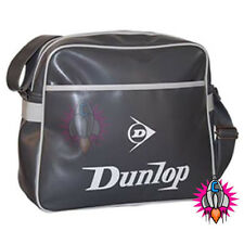 RETRO VINTAGE DUNLOP BLACK WHITE GREY SHOULDER SCHOOL GYM MESSENGER BAG NEW TAGS