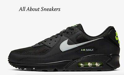 Nike AIR MAX 90 BlackVoltLUCE FUMO Uomo Scarpe da