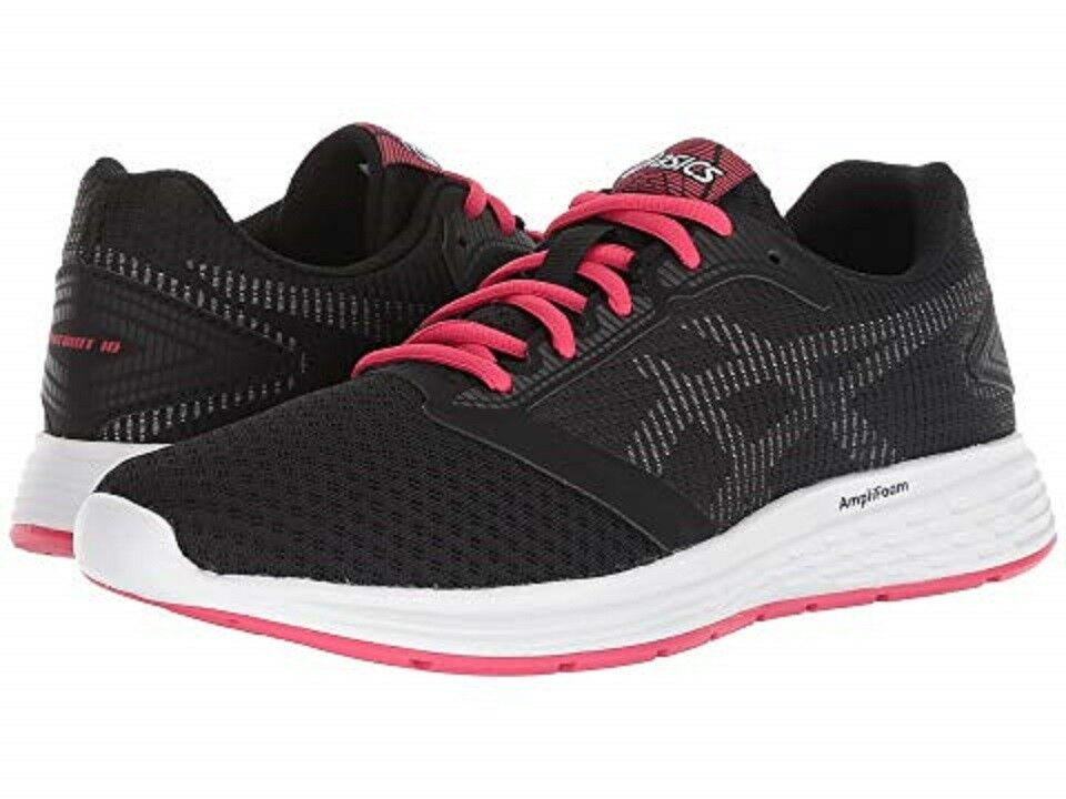 ASICS 1012A117.001 PATRIOT 10 Wmn's (M) Black/Pink Mesh Running Shoes