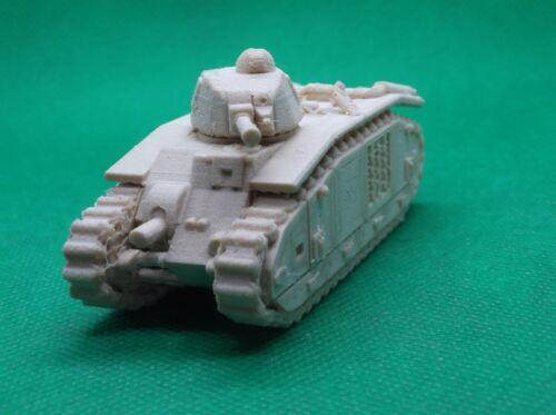 3D printed 1//72 scale World War 2 French Char B1 bis medium tank
