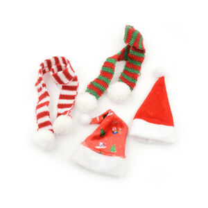 Handmade-Doll-Christmas-Hat-Scarf-For-1-6-Doll-Accessories-JF