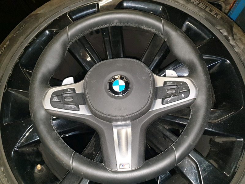 BMW G30 5 SERIES M SPORT STEERING WHEEL AND AIRBAG