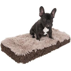 Dog-amp-Cat-Pet-Bed-Bolster-Foam-Deluxe-Bedding-Cuddler-Fluffy-Pillow-Small-Beige
