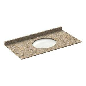 49-034-Vanity-top-with-sink-8-034-spread-Granite-Wheat-by-LessCare-PICK-UP-ONLY
