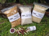 Maya Dust-kapok- Pine Dust Firelighting Tinder Kit With 25 Waterproof Matches