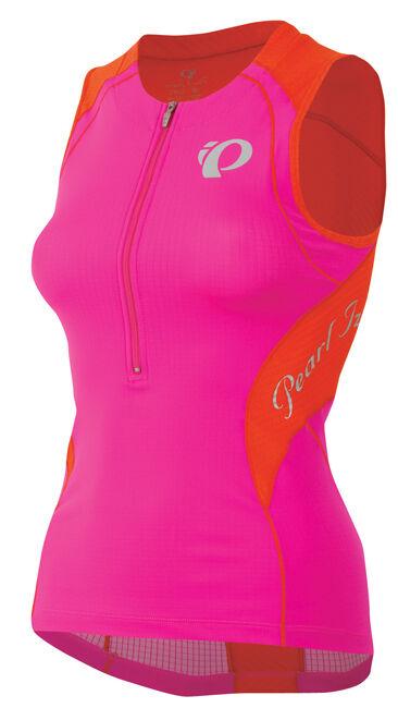 Pearl Izumi Mujer Elite In-r-cool Tri Sl Triatlón Jersey Pequeño Color de rosadodo caliente