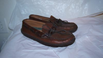 Womens L.L. BEAN Leather driving Shoes