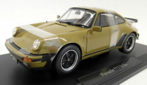 Norev-1-18-Scale-diecast-187575-Porsche-911-Turbo-3-3-1977-Olive-Model-Car