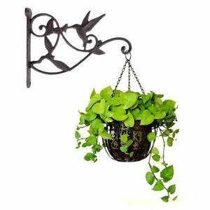 Metal-Plant-Hanger-Garden-Wall-Light-Hanging-Flower-Pot-Bracket-Hook-Shelf-Stand