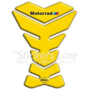 Paraserbatoio-adesivo-resinato-BMW-Motorrad-giallo-adesivi-serbatoio-3D-B-26
