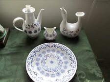 EVA Zeisel MONMOUTH RARE 4 PCS  DUCK PITCHER,COFFEE POT,BOWL,PLATE SCHMID NKT